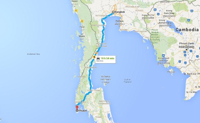 Bangkok to Phuket