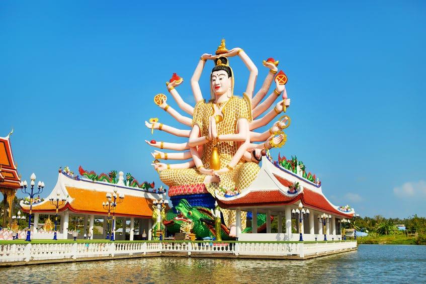 Big Guan Yin Statue Wat Plai Laem