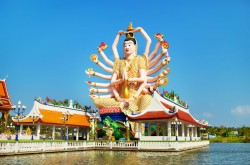 Big Guan Yin Statue at Wat Plai Laem