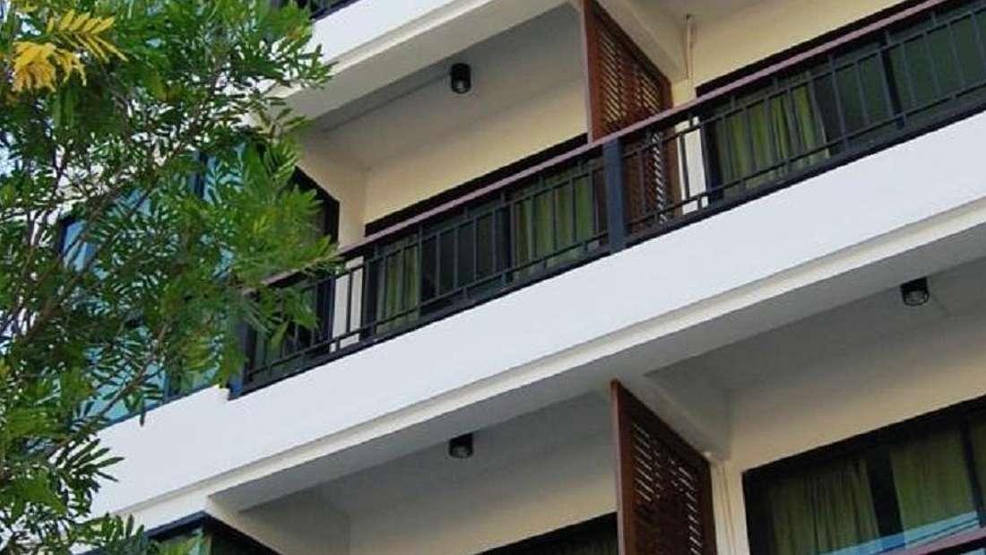 Mandala budget hotel balcony