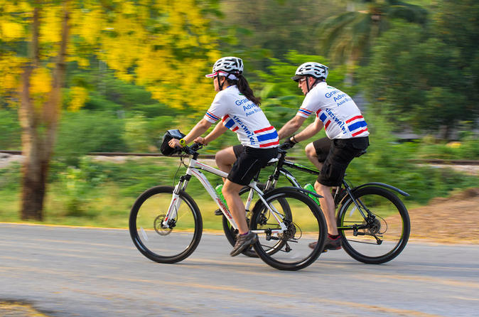 cycling the river kwai in kanchanaburi