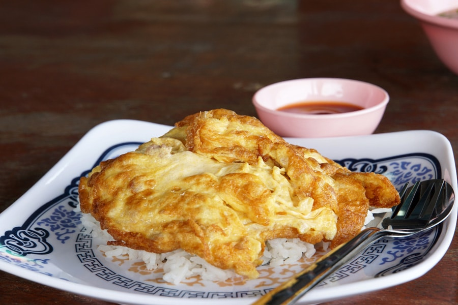 Thai style pork Omelette