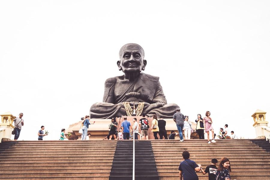 Luang Pu Toad Buddha Statue at Wat Huay Mongkol