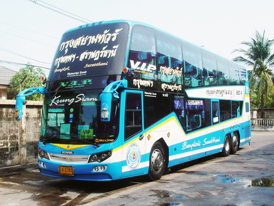 bus bangkok to surat thani