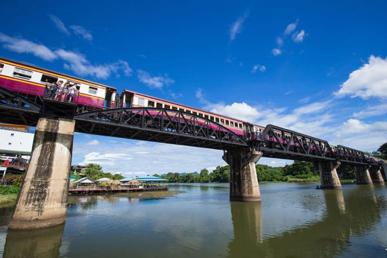 Thonburi - Nam Tok Train on River Kwai Bridge