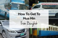Bangkok to Hua Hin – Travel by Bus, Van, Taxi, Train