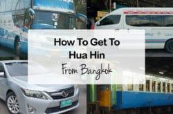 How To Travel From Bangkok to Hua Hin By Bus, Train, Minivan & Taxi