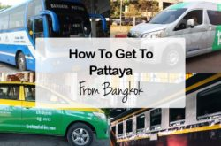 Bangkok to Pattaya – Travel by Bus, Van, Taxi, Train