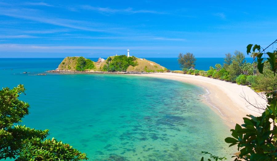 Lighthouse and beach koh lanta