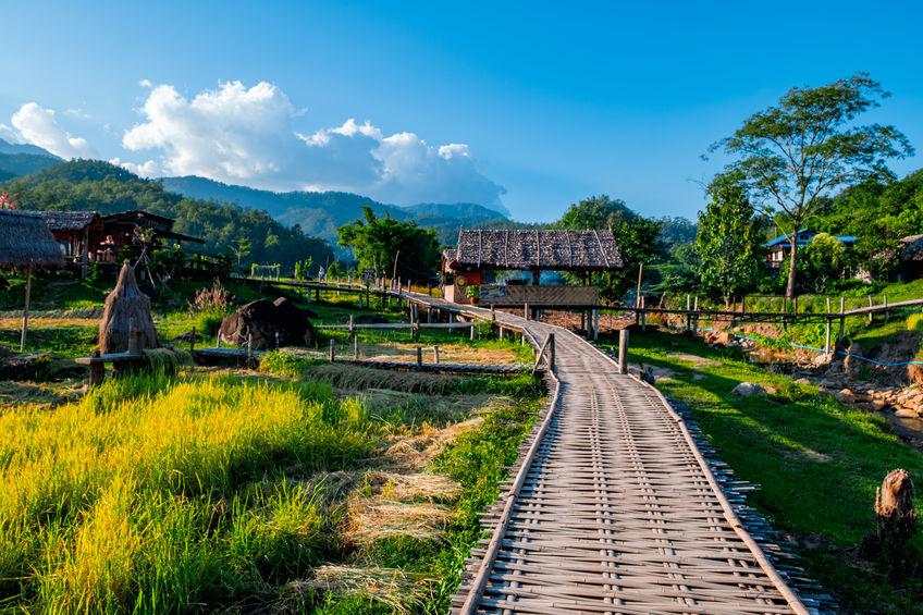 Boon Ko Ku So (Kho-Ku-So) bamboo bridge at Pai